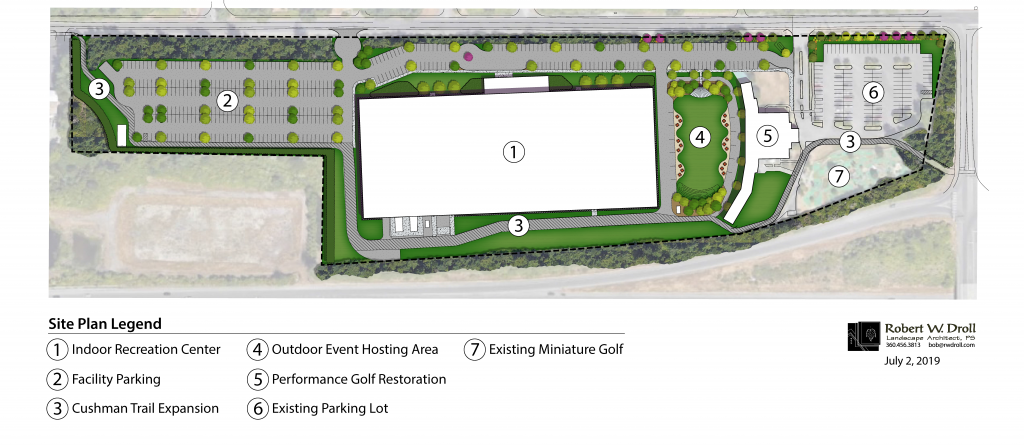 Community Recreation Center phasing plan